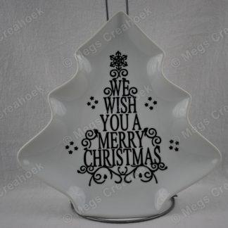 Kerstboombord merry christmas