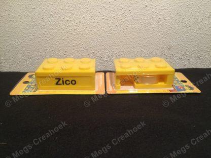 Traktatie lego plakbandhouder - bedrukt