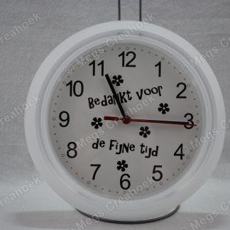 Klok bedankt