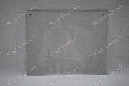 Naambord plexiglas transparant