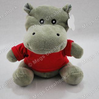 Nijlpaard knuffel met shirt
