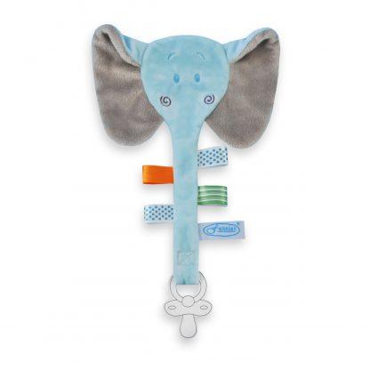 Speendoek olifant blauw