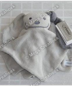 Tutpoppetje grijs met grijs gekleurd oor