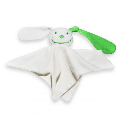Tutpoppetje gekleurd oor groen