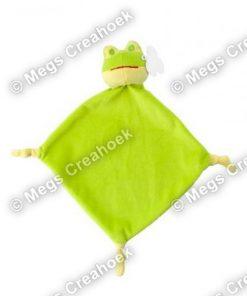 Knuffeldoekje groene kikker