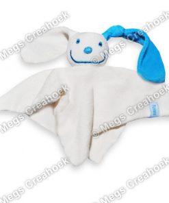 Tutpoppetje blauw gekleurd oor