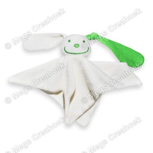 Tutpoppetje groen gekleurd oor