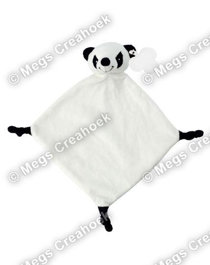 Knuffeldoekje zwart witte panda
